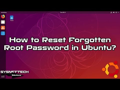 Ubuntu Password Reset Video