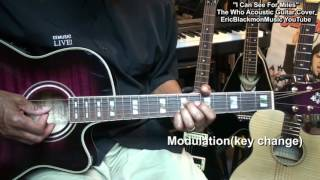 I Can See For Miles THE WHO Acoustic Guitar Lesson Link Cover EricBlackmonGuitar