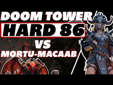 Doom Tower 86 HARD - Kantra vs Mortu-Macaab Raid Shadow Legends Doom Tower 86 guide