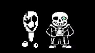 "Gaster's theme in ""song that might play when you fight sans"""