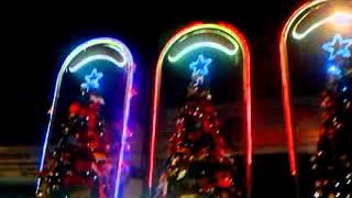 Camiones navideños de coca cola en curico
