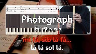 Photograph Ed Sheeran Notas para flauta COM voz guia Educação Musical José Galvão