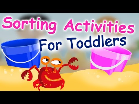 Sorting Activities for toddlers and preschool kids