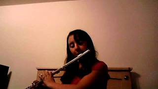 "Caitlin Plays ""A Shaker Hymn"" On The Flute"