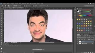 Speed Art - colocando o rosto do MR Bean no Rodrigo Faro
