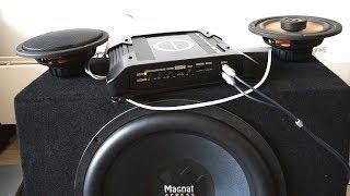 Blaupunkt gta 280 amplifier + Magnat xpress 15 subwoofer bass test
