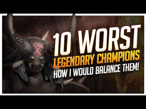 RAID Shadow Legends | 10 WORST LEGENDARY CHAMPS | HOW I WOULD CHANGE THEM!