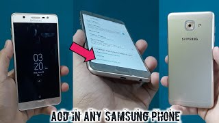 AOD in J7 max | install always on in any samsung phone