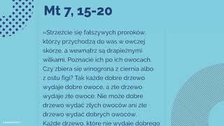 #Ewangelia | 27 czerwca 2018 | (Mt 7, 15-20)