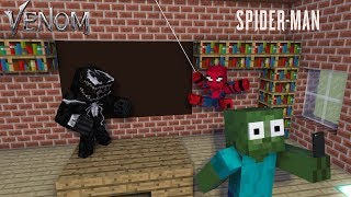 Monster School : SPIDER-MAN VS VENOM - Minecraft Animation