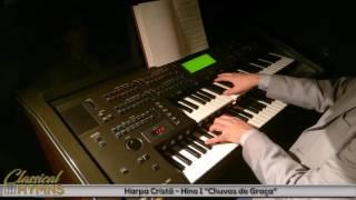 """Hino 1 """"Chuvas de Graça"""" (Harpa Cristã) Órgão YAMAHA EL90"""
