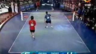 Messi & Tevez VS Maradona & Enzo Football Tennis width=