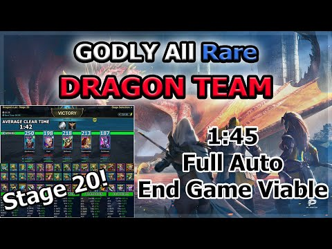 RAID Shadow Legends | GODLY All Rare DRAGON Team