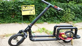 How To Make a Drill Powered Electric Bike - Simple and Cheap width=
