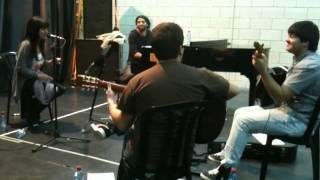 Ana Moura and Idan Raichel rehearse at the Tel Aviv Opera House
