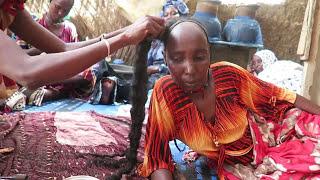 Long kinky hair secret from Chad in Africa width=