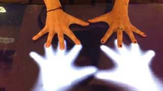 Microsoft Surface Table ghost hands