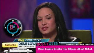 Demi Lovato Breaks Her Silence About Rehab!