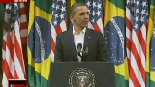 Barack Obama speaking in Portuguese Brazilian