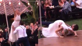Wedding Guests Gasp at 'Dirty Dancing' Epic Fail