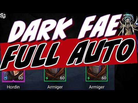 Dark Fae full auto NO LEGENDARY DT HARD - RAID SHADOW LEGENDS