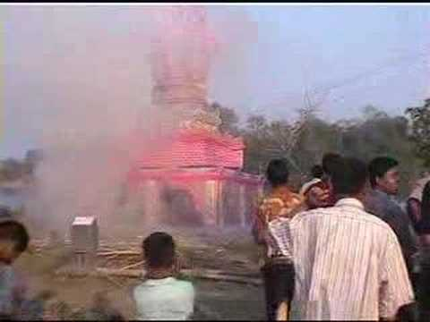 Monk cremation