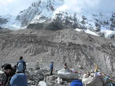 Panorama of Everest South Base Camp(5345m)-Part(1).wmv