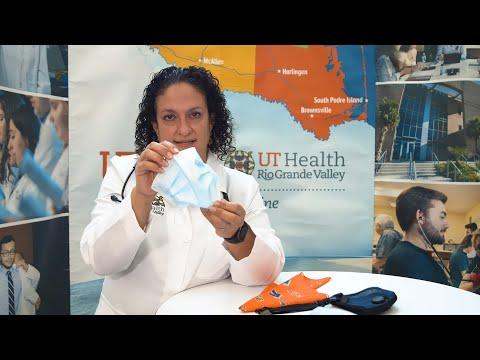 """Como usar el cubrebocas correctamente"" - Doctora Cristel Escalona | UT Health RGV"