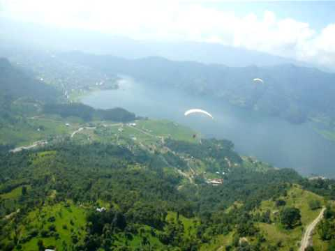 Paragliding in Pokhara, Nepal Sep 2009 Part 2