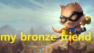 my Bronze 5 friend #47 Ryze was able to survive  (League of Legends) 살수있었는데..