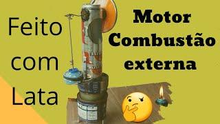 Motor Stirling caseiro de lata de cerveja