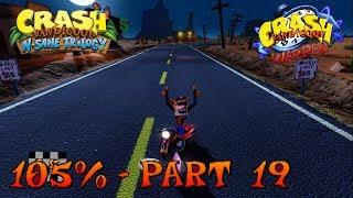 Crash Bandicoot 3 - N. Sane Trilogy - 105% Walkthrough, Part 19: Road Crash (Gem)
