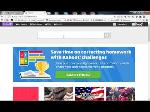 如何使用 kahoot 網站上已經出好的題目 - YouTube