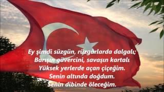 BAYRAK ŞİİRİ-ARİF NİHAT ASYA(Ey Mavi Göklerin beyaz ve kızıl süsü)