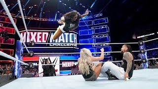 WWE Mixed Match Challenge - Season 2 Week 1 AJ Styles & Charlotte Flair Vs Jimmy Uso & Naomi