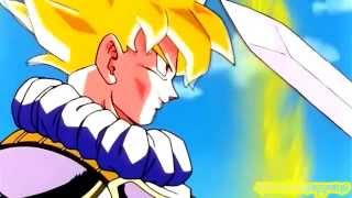 Goku vs Trunks,finger vs sword! width=