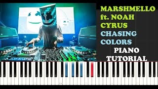 Marshmello ft. Noah Cyrus - Chasing Colors (Piano Tutorial)