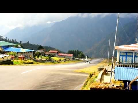 Landing, Taxi and Takeoff from Lukla Airport, Nepal