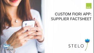 SAP Fiori with Stelo: Supplier FactSheet