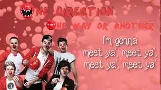 One Direction - One way or another - lyrics on screen (high quality, full song) [720p]