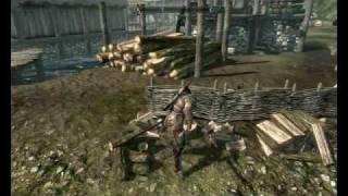 The Elder Scrolls V: Skyrim - Tutorial Cortar Lenha e Vender por 5 Moedas