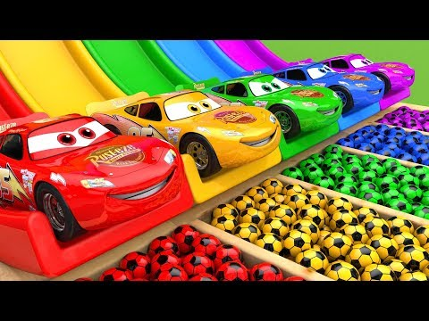 McQueen Car Assembly Surprise Soccer Ball   Street Vehicle with Learn Colors for Kids