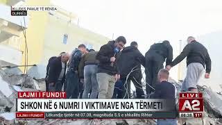 Albania, sisma di magnitudo 6.5: le immagini dalla tv A2