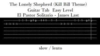 The Lonely Shepherd (Kill Bill theme) guitar tab EASY