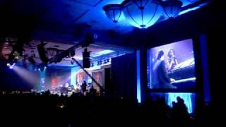 JOSH GROBAN & JORDIN SPARKS PT 1 AT CELEBRITY FIGHT NIGHT XV- BRIDGE OVER TROUBLED WATERS PT1