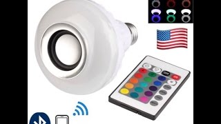 LED Bluetooth Speaker Bulb Wireless 12W Power Music Playing Light