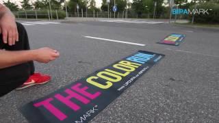 Bipamark - ColorRUN 2014 (asfalto lipdukai lauko reklamai)