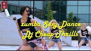 zumba sexy Dance girl-Dj Cheap Thrills