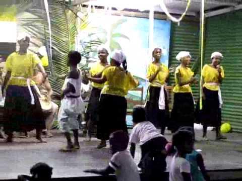 Garifuna youth dancing group in Festival Garifuna, Nicaragua
