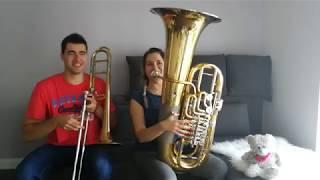 AronChupa, Little Sis Nora - Llama In My Living Room - Trombone & Tuba Cover